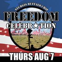 Special Presentation for War Hero Held at Sturgis Campground during Freedom Celebration