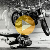 Evel Knievel Motorcycle Stunt Video