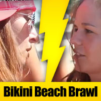 Biker babes battle it out for the prime Bikini Beach sunning space in this episode of Sturgis Rider TV