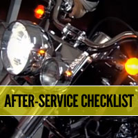 Follow these motorcycle safety tips after any maintenance is performed on your bike to ensure it's safe to ride.