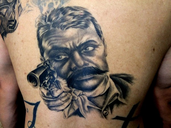 The gallery for pancho villa skeleton tattoo for Emiliano zapata tattoo