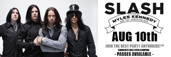 SLASH is set to ignite the Legendary Buffalo Chip's main stage on August 10th for a never before seen show in South Dakota!