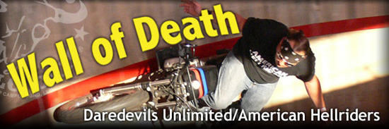 See the Wall of Death Motorcycle Stunt Show at the Buffalo Chip in 2012