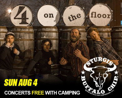 4onthefloor Brings Energy and Soul to Sturgis Rally Sunday Aug. 4