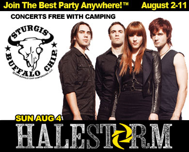 August music festival hosts hard rockers Halestorm during Sturgis Rally