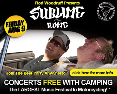Sublime with Rome plays top Sturgis camping, motorcycle and music venue during August music festival