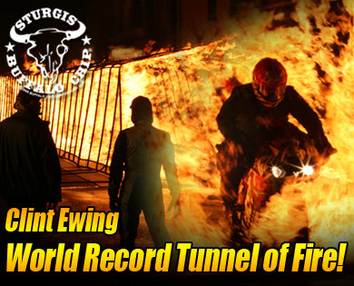 Clint Ewing Tunnel of Fire Motorcycle stunt show
