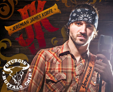Sturgis Concerts at August Music Festival to Include Jeremiah James Korfe