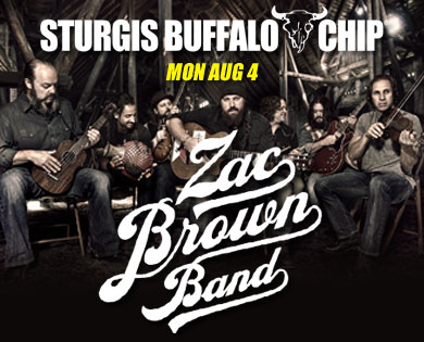 Buffalo Chip Summer Music Festival Welcomes Zac Brown Band