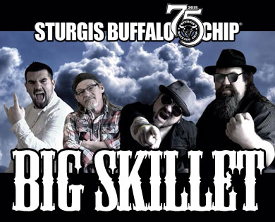 Big Skillet Will Rock Sturgis Rally goers aboard the Jägermeister stage at the CrossRoads July 29 and 30