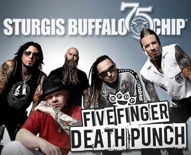 Five Finger Death Punch will rock the Chip Aug. 1, 2015.