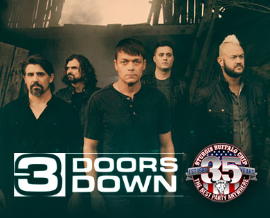 3 Doors Down Brings Chart-Topping Alternative Rock to Sturgis Buffalo Chipu0027s August Music Festival  sc 1 st  Buffalo Chip & 3 Doors Down to Unhinge the Wild at 35th August Music Festival ...