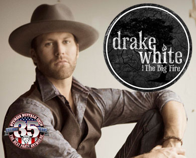 Drake White's debut at the Buffalo Chip's August Music Festival during the Sturgis Rally will have you boogieing red, white and blue Americana river rat country blues.
