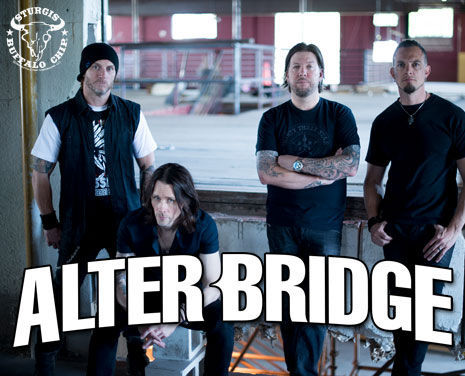 Alter Bridge will crush the Chip's 2017 August music festival with epic alternative metal jams