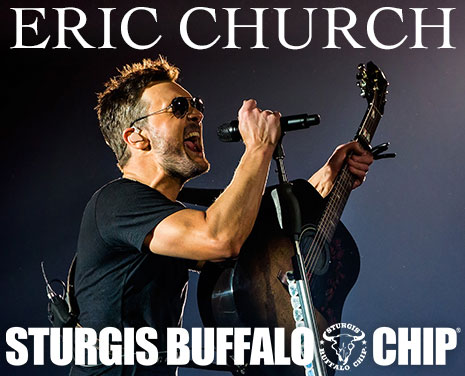 Eric Church's performance will make for another Record Year at the Sturgis Buffalo Chip's August music festival during the Sturgis rally.