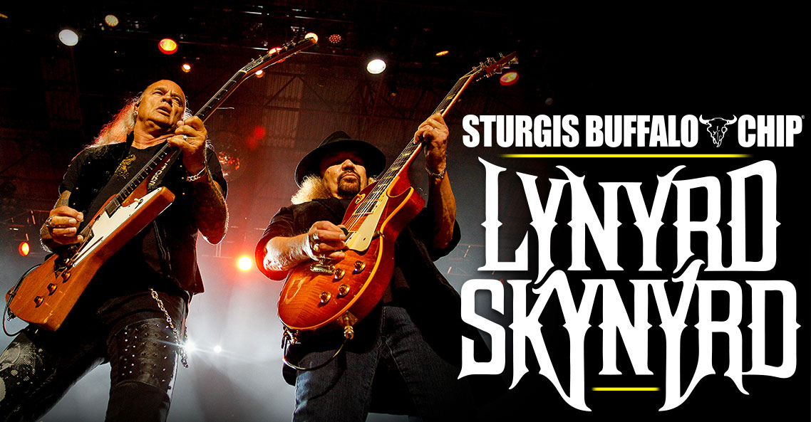 Quintessential Biker Band Lynyrd Skynyrd Brings Farewell Tour to Sturgis Buffalo Chip.