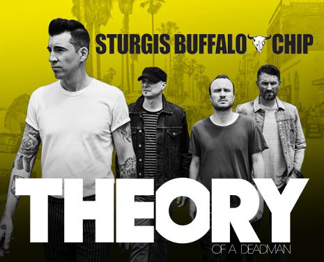 Don't miss Theory of a Deadman's killer performance at the Sturgis Buffalo Chip on Sunday, August 6, 2018!
