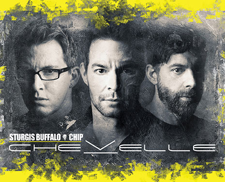Don't miss Chevelle's killer performance at the Sturgis Buffalo Chip on Saturday, August 11, 2018!
