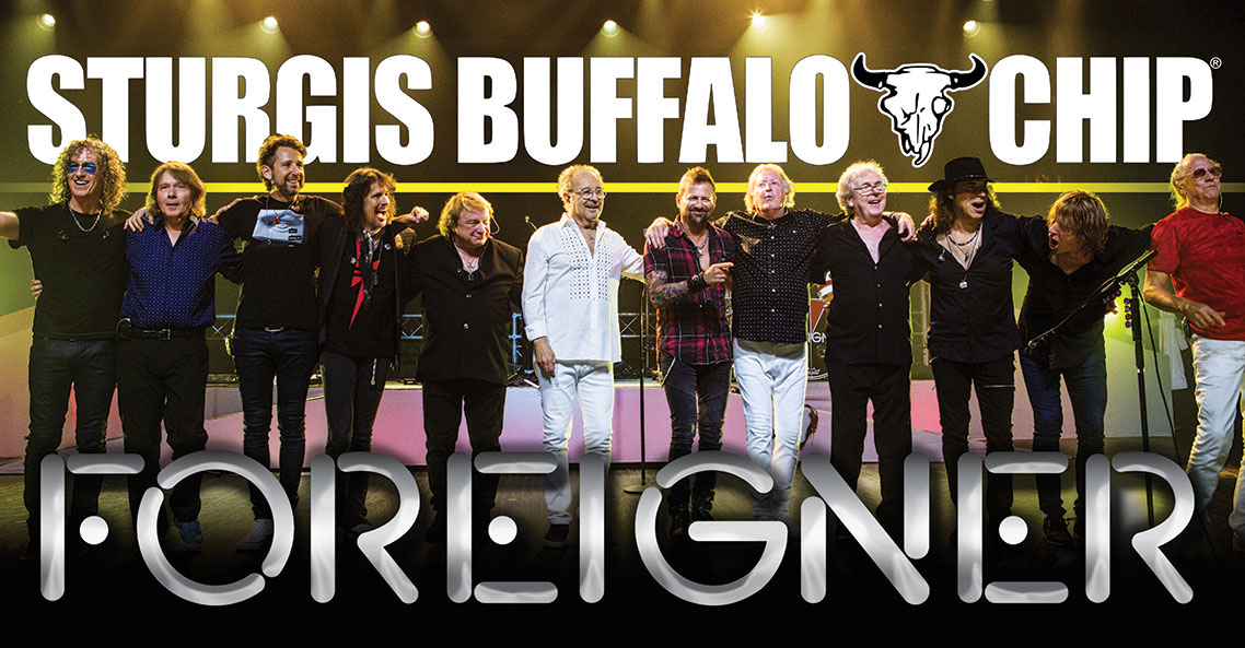 Foreigner is set to give the Sturgis Buffalo Chip® Double Vision on August 4, 2018.