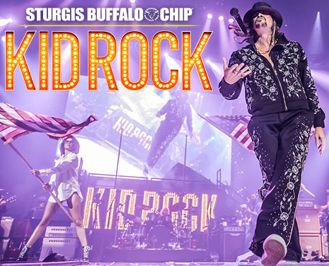 Don't Miss Kid Rock's return to the Sturgis Buffalo Chip on Thursday, August 9, 2018!