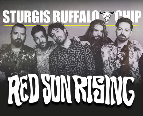 Don't miss Red Sun Rising's killer performance at the Sturgis Buffalo Chip prior to Foreigner on Saturday, August 4, 2018!