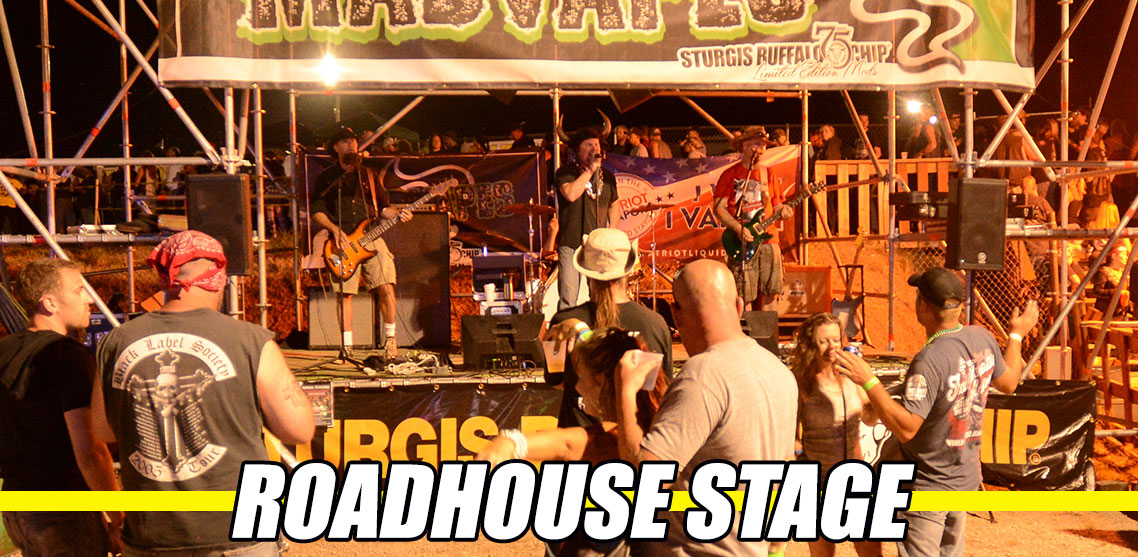 Roadhouse Stage offers non-stop music between main stage sets during Sturgis Rally