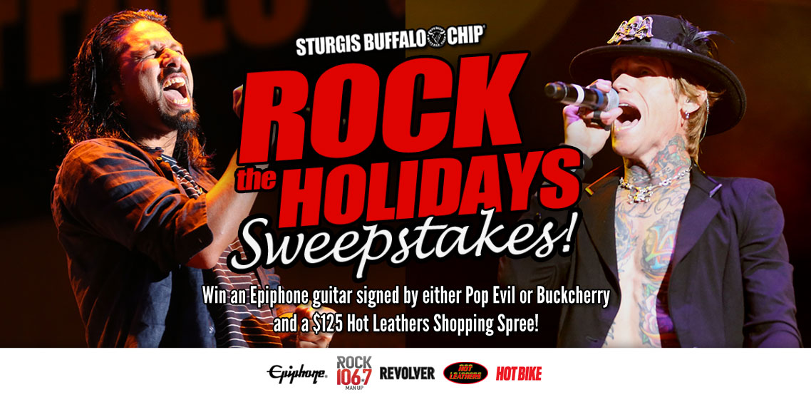 Win a Guitar Signed by Pop Evil or Buckcherry and a Hot Leathers Shopping Spree in the Rock the Holidays Sweepstakes