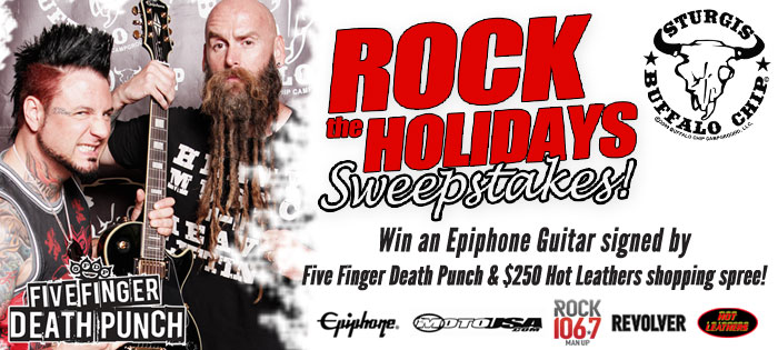 Your Holidays will Rock when You Win a Guitar and a Shopping Spree from the Legendary Buffalo Chip