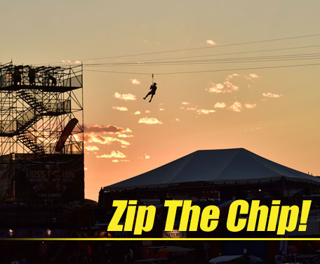 Sail through the Sturgis Buffalo Chip Amphitheater on South Dakota's Longest Zip Line