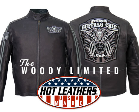 Woody Limited American Made Premium Leather Motorcycle Jacket from Hot Leathers