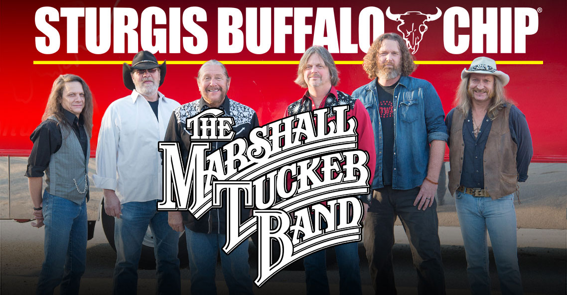Classic Biker Band The Marshall Tucker Band to Rock the Sturgis Buffalo Chip on August 7, 2018.