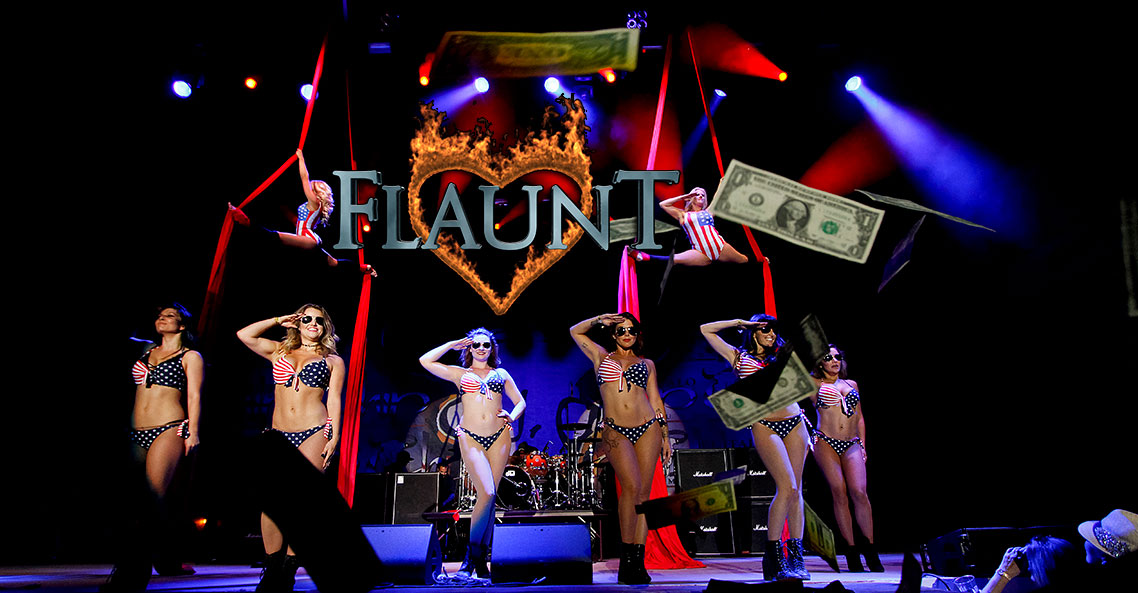 Get your sexy on with the Flaunt Girls at the Sturgis Buffalo Chip®.