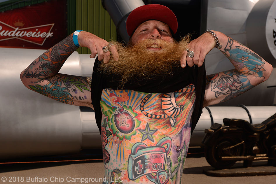 Sailor Jerry Rock \'n\' Roll Tattoo Contest at the Buffalo Chip Crossroads