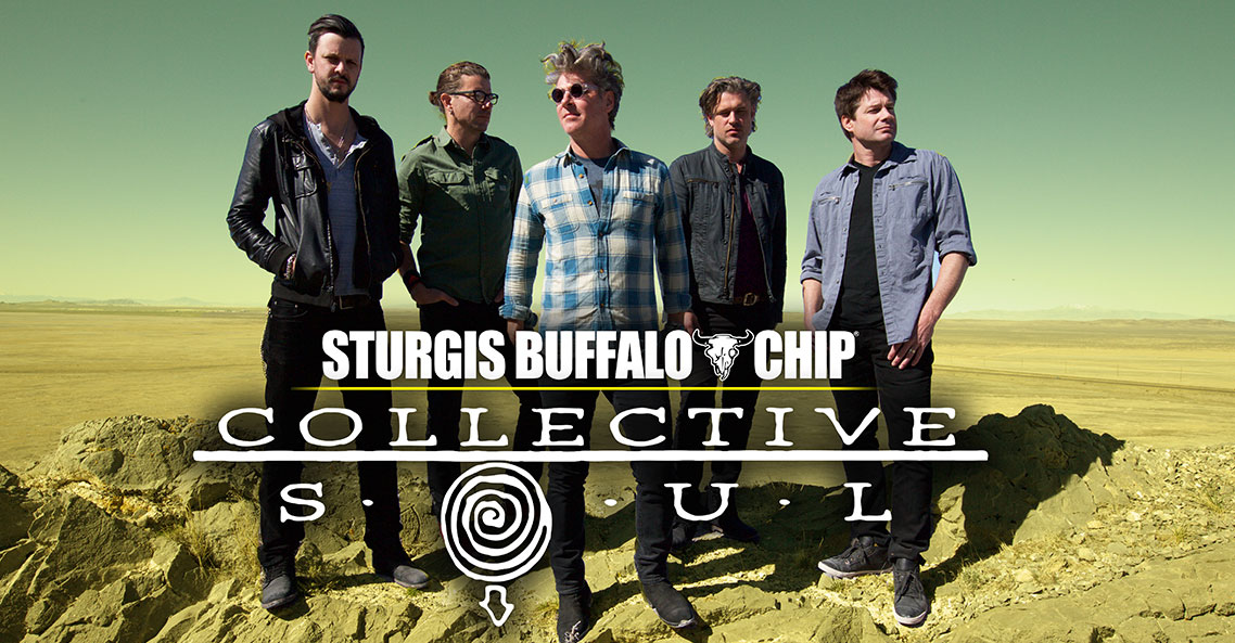 Collective Soul to join Styx at the Sturgis Buffalo Chip on August 5, 2019.