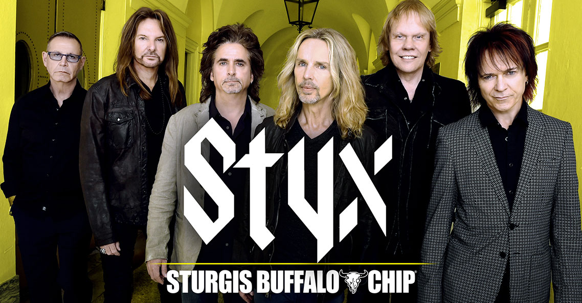 Styx to Bring The Best of Times to the Sturgis Buffalo Chip on August 5, 2019.