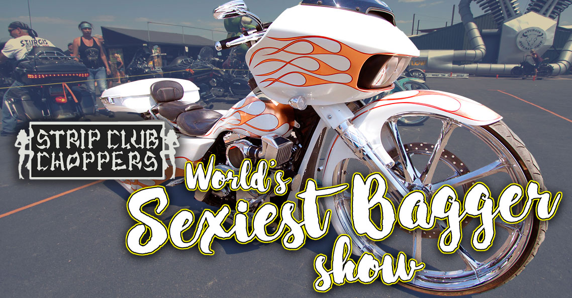 Sexiest Bagger Show Displays Drop-Dead Gorgeous Custom Motorcycles during the Sturgis Rally.