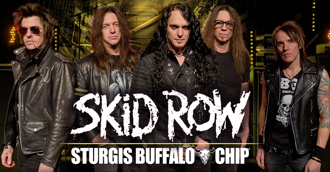 Skid Row to rock the Sturgis Buffalo Chip into frenzy on August 3, 2019.