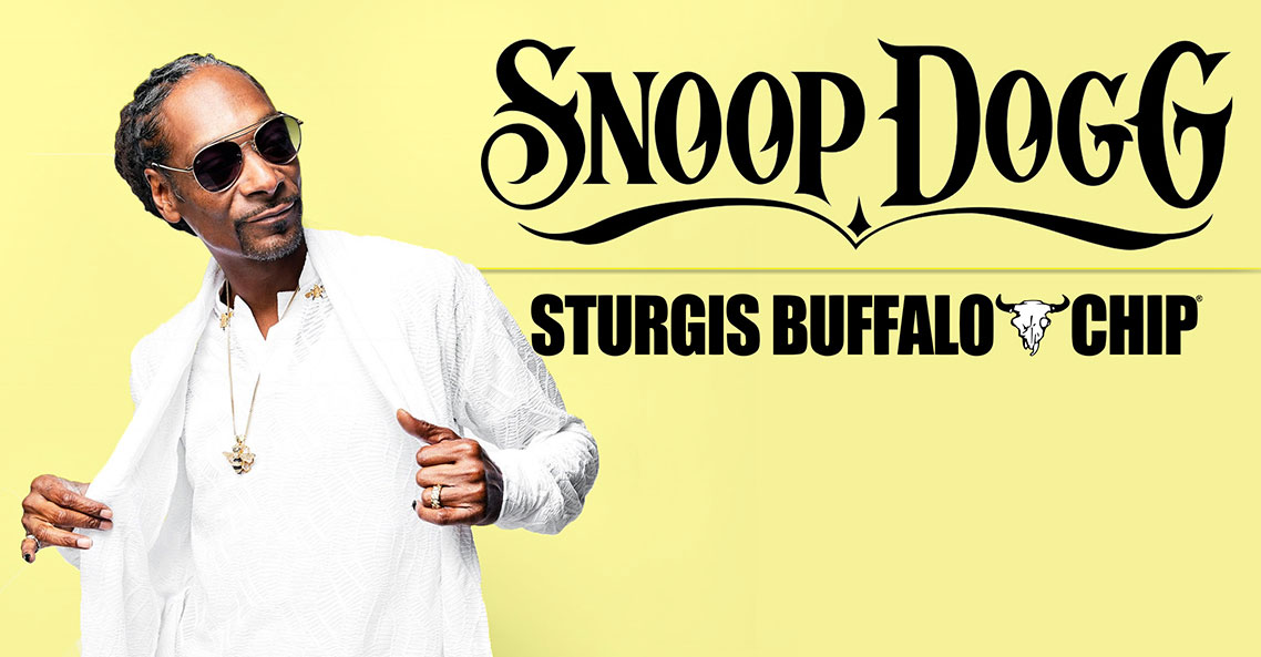 Snoop Dogg to throw an off the hook party at the Sturgis Buffalo Chip on Wednesday, Aug. 7.