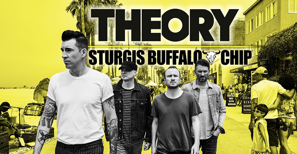 Don't miss Theory of a Deadman's deadly performance at the Sturgis Buffalo Chip on Wednesday, August 7, 2019!