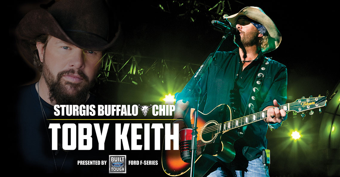 Toby Keith to return to the Sturgis Buffalo Chip on August 8, 2019.
