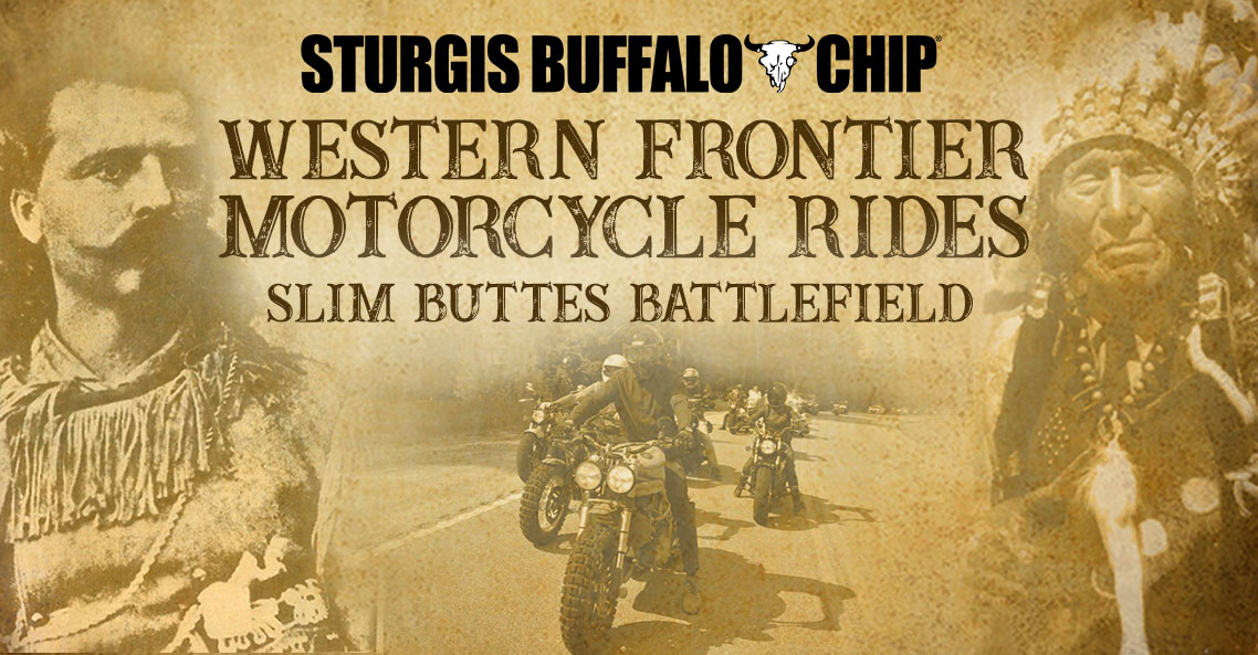 Take a guided motorcycle tour through the Western Frontier to the site of the one of the Battles of the Great Sioux War.