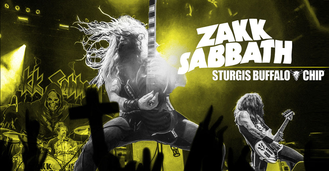 Zakk Sabbath to rock the Sturgis Buffalo Chip into oblivion on August 10, 2019.