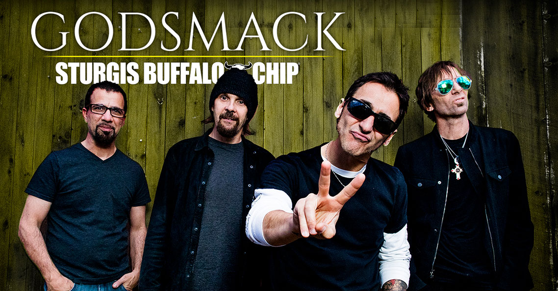 Godsmack to rock the Sturgis Buffalo Chip into oblivion after racing American Flat Track on Sunday, Aug. 4.