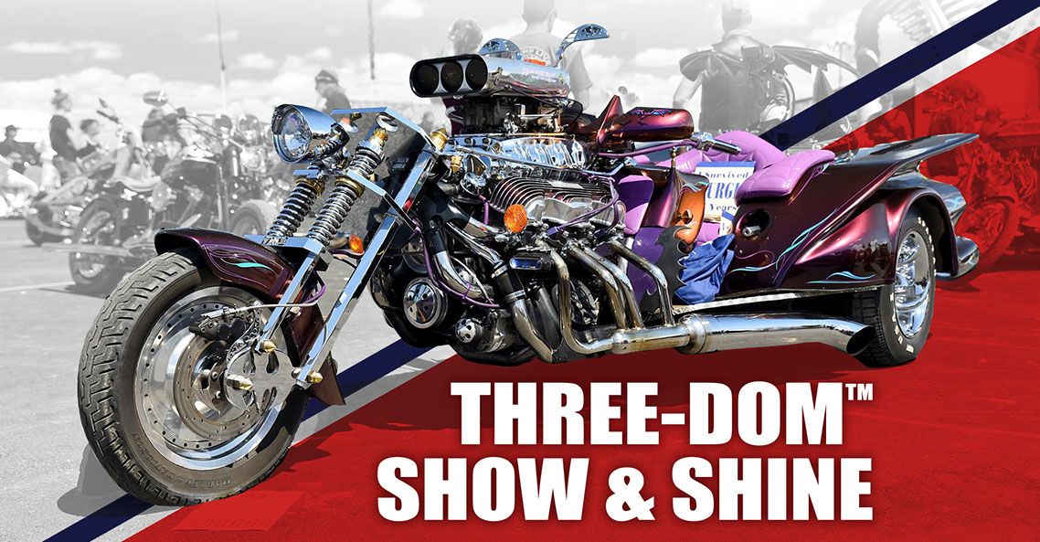 Check the coolest three-wheelers around during the Sturgis Rally at the Three-Dom Trike Show.