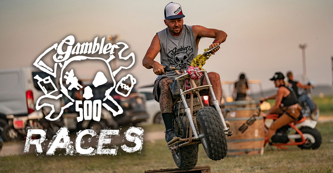 Put a little fun between your legs at the Sturgis Buffalo Chip's Gambler 500 Mini Bike Events August 7-15
